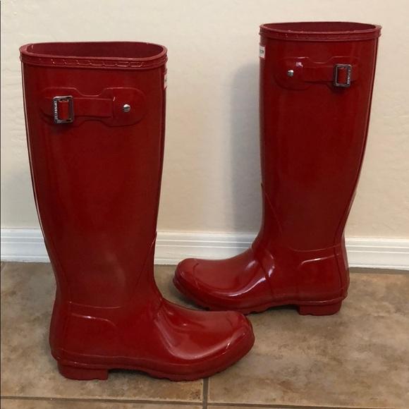 0cff23fd3 Hunter Boots Shoes - Hunter Original Tall Gloss Wellies Boot Shoes sz 7